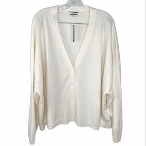 J.Crew Relaxed Fit Cashmere Cardigan Sweater Sz 3X